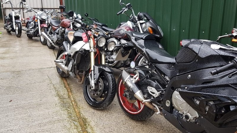 Gardaí seized ten bikes in the heavily fortified compound Crumlin
