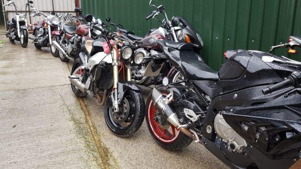 The Criminal Assets Bureau seized 10 motorcycles during the raid