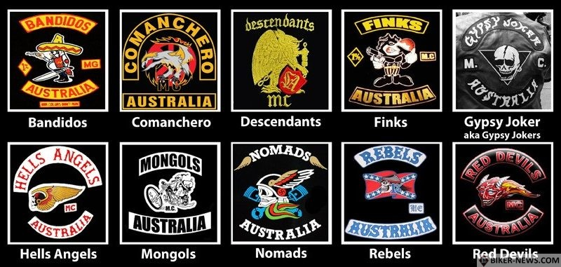 Australian Motorcycle Clubs (Not All)