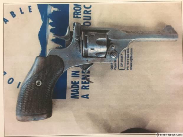 The revolver that was used to shoot Yolanda Tu'uheava.