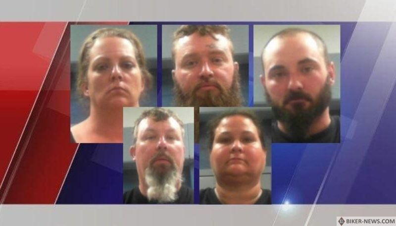 8 charged for alleged robbery of rival motorcycle club