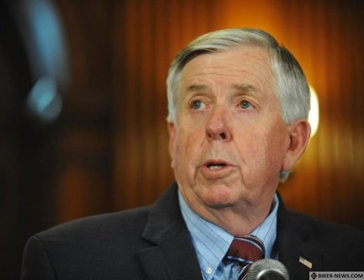 In this May 29, 2019 file photo, Gov. Mike Parson addresses the media during a news conference in his Capitol office in Jefferson City, MO. Hundreds of Missouri prisoners serving mandatory sentences for largely nonviolent offenses could become eligible for parole under a new law enacted Tuesday, July 9, that Gov. Parson touted as a criminal justice reform.