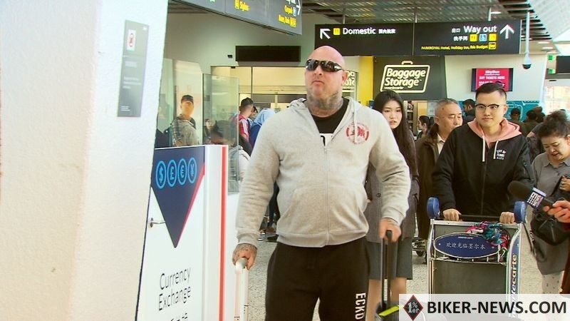 Mick Murray's bail conditions were recently varied, allowing him to leave Australia. (9News)