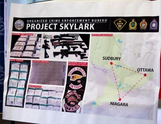Ontario Provincial Police along with Niagara Regional, Hamilton and Ottawa police departments announced Project Skylark which targeted drug trafficking and with other crimes in those jurisdictions. - Bob Tymczyszyn , Torstar