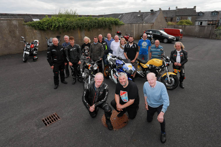KIRK Hanlon, Howard Anderson, and Bobby Ingram, along with members and some visiting bikers and friends, who came along to watch and take part in Rathfriland Motorcycle Club's 25th Anniversary Run on Sunday.