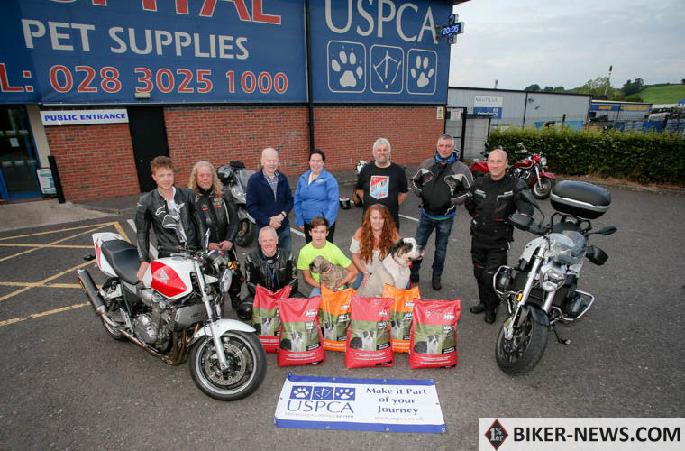 RATHFRILAND Motorcycle Club move up a weight. Collecting and delivering over 600kg of food to the USPCA Animal Hospital, Newry, the Club has continued to increase their delivery every year. Members paid a special thanks to Paul from Jollye's Newry, Mairead from Jollye's Lurgan, and Ash from Jollye's Banbridge. Pictured: Neil Hanlon, JD Hanlon, Bobby Ingram, Colleen Dowdall, Howard Anderson, Declan McGrath and Ian Dowdeswell, (front row) Kirk Hanlon, Dylan, and Emma Edwards.