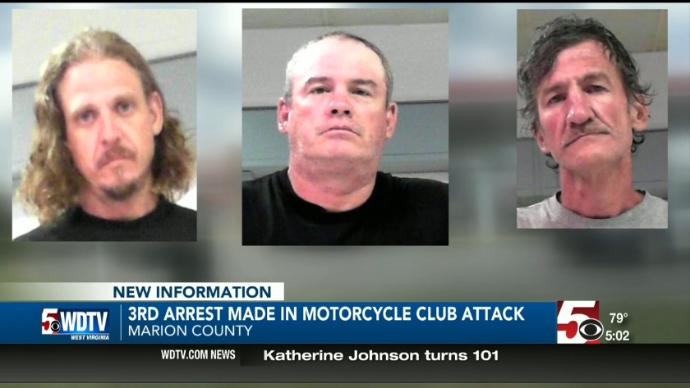 A third arrest has been made in connection to what police say was a motorcycle club attack at a gas station in White Hall.