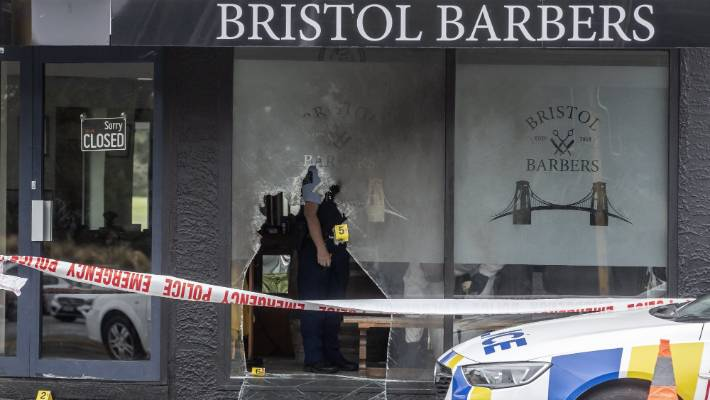 Bristol Barbers in Wainoni was set alight about 3.30am on Friday.