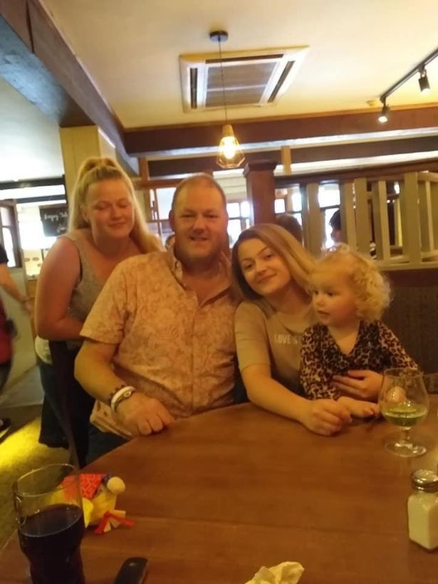 Gavin Smith, pictured here with his family, was beloved in the motorcycle community