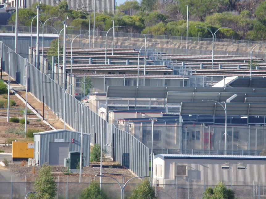 Rooftops at Yongah Hill detention centre in Northam