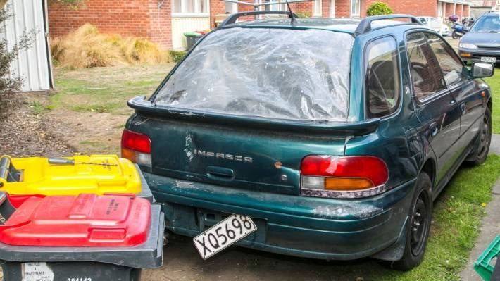 The Subaru car police believe gang member Rota Beattie was in when he was shot in 2015.