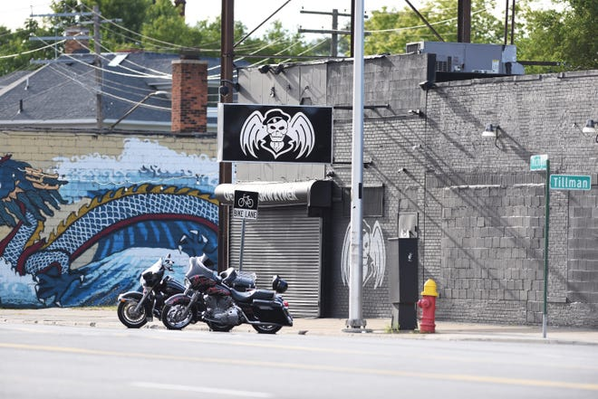 The Highwaymen Motorcycle Club headquarters on Michigan Avenue in southwest Detroit.